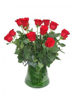 Ramo de 12 rosas con relleno