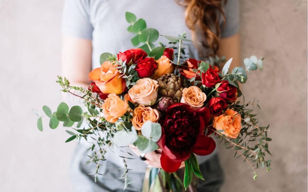 Belleza y colorido de los ramos de flores