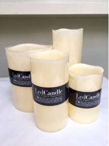 Set 4  Velas de Led