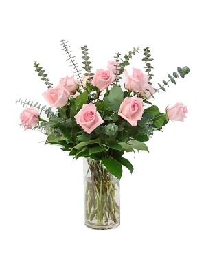 Ramo de rosas rosa con relleno